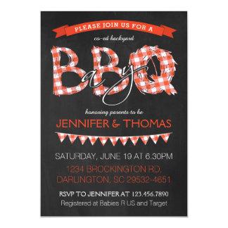 BBQ de Uitnodiging van het Baby shower