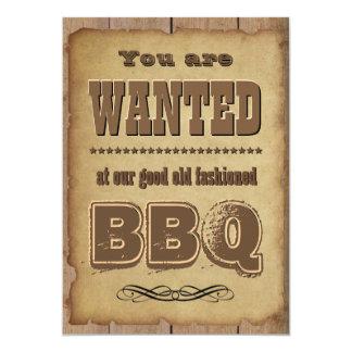 BBQ de Westerne Stijl van de Uitnodiging