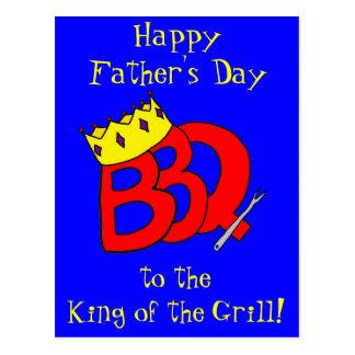 BBQ het Briefkaart van het Vaderdag van de Koning