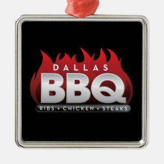 BBQ van Dallas het Vierkante Ornament van de