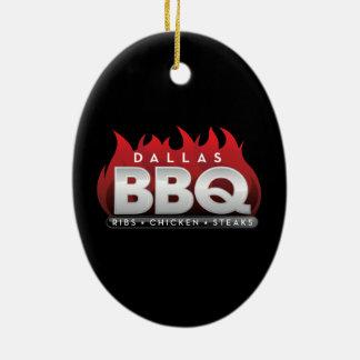 BBQ van Dallas Ovaal Ornament