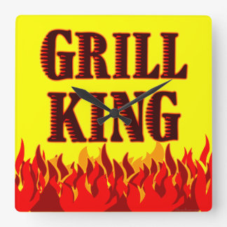 BBQ van de Koning van de grill de Klok van de Muur