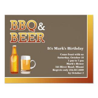 BBQ & van het Bier de Vlakke Uitnodiging van de