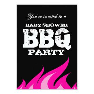 BBQ van het de binnenplaatsbaby shower van de Kaart
