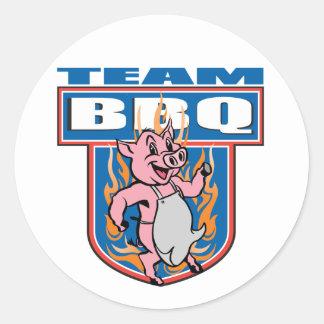 BBQ van het team Varkensvlees Ronde Sticker