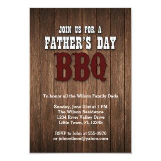 BBQ van het vaderdag 8,9x12,7 Uitnodiging Kaart