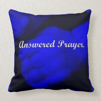 Beantwoord gebed-Blauw Kussen