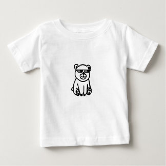 bear_glasses_hd_space baby t shirts