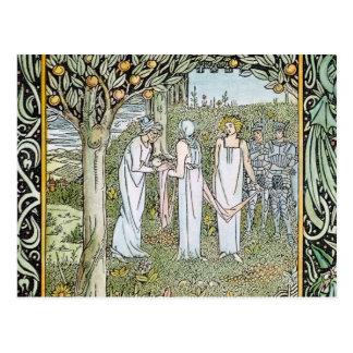 Beardsley: Morte D'Arthur Briefkaart