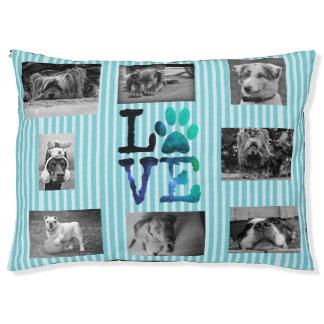 Bed van de Hond van de Liefde van de Poot van Aqua Hondenbedden