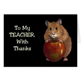 Bedankt aan Leraar: Hamster, Apple: Kunst op Briefkaarten 0