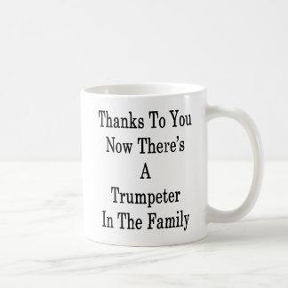 Bedankt aan u nu is Er een Trompetter in Famil Koffiemok