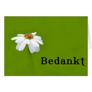 Bedankt - dank u in het Nederlands Briefkaarten 0