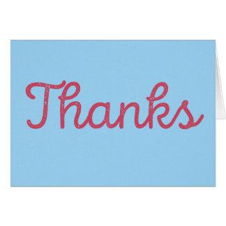 Bedankt, dat aardig was. kaart | Rood/Blauw