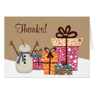 Bedankt! ~ De leuke Sneeuwman met de Winter van Kaart