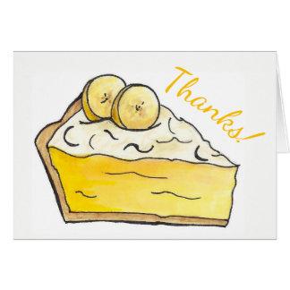 Bedankt! Het Voedsel van Foodie van het Dessert Briefkaarten 0