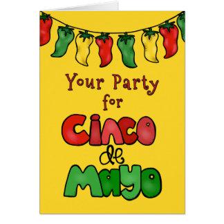 Bedankt! Uw Partij voor Cinco DE Mayo was Heet! Wenskaart