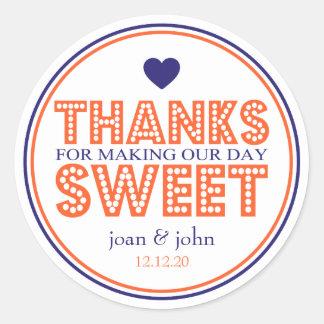 Bedankt voor het Maken van Ons Snoepje van de Dag Ronde Sticker
