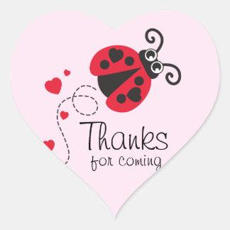 Bedankt voor komende de verjaardagssticker van hart sticker