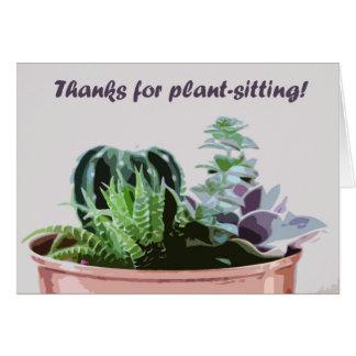 Bedankt voor plant-zit briefkaarten 0
