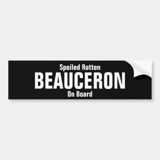 Bedorven rotte Beauceron aan boord Bumpersticker