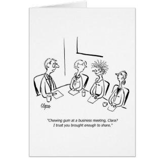 Bedrijfs grappig kauwgomwenskaart kaart