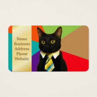 bedrijfs kat - zwarte kat visitekaartjes
