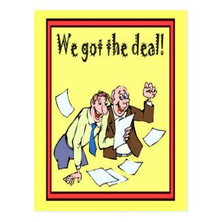Bedrijfs Vrienden, kregen wij de overeenkomst Briefkaart