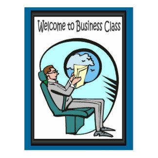 Bedrijfs vrienden, Onthaal aan commerciële klasse Briefkaart