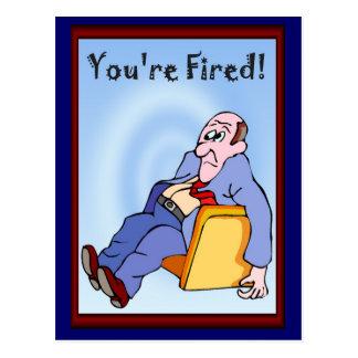 Bedrijfs vrienden, u (aangaande in brand gestoken briefkaart