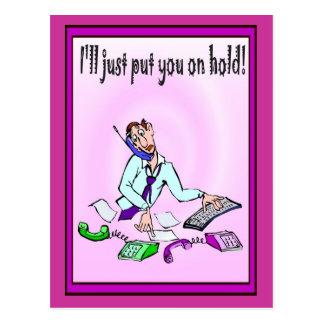 Bedrijfs vrienden, zal ik u enkel opschorten briefkaart