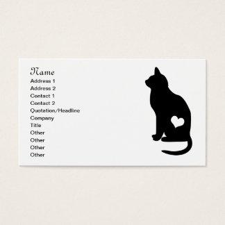 Bedrijfs Zwarte Kat Visitekaartjes