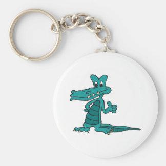 beduimelt omhoog alligator sleutelhanger