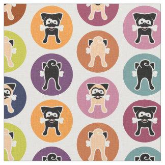 Been! De Druk van de cirkel (Fawn & Zwarte Pugs) Stof