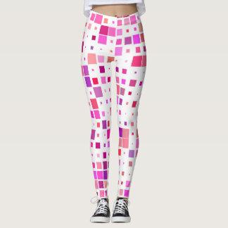 Beenkappen met vierkanten dat van roze worden leggings