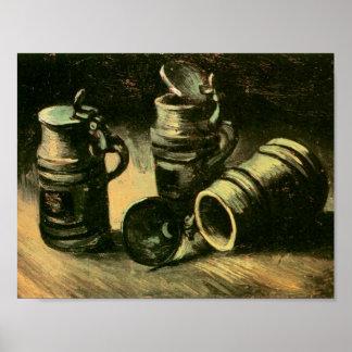 Beer Tankards Van Gogh Fine Art. Poster