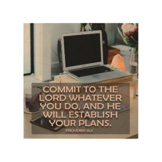 Bega aan Lord Wat u doet Hout Afdruk