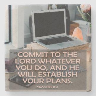 Bega aan Lord Wat u doet Stenen Onderzetter