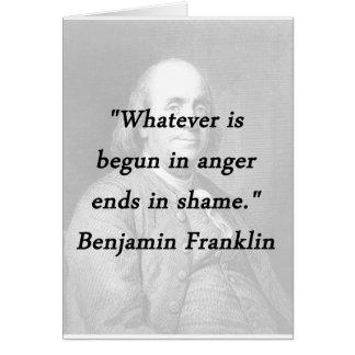 Begonnen in Woede - Benjamin Franklin Kaart