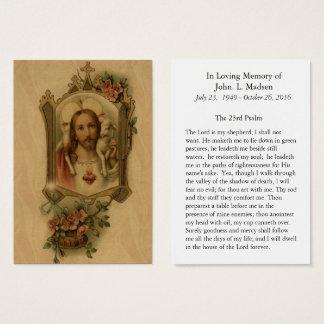 Begrafenis Herdenkings Heilig Hart Jesus Good Visitekaartjes