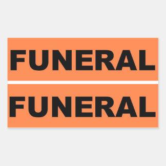 Begrafenis Rechthoekige Sticker