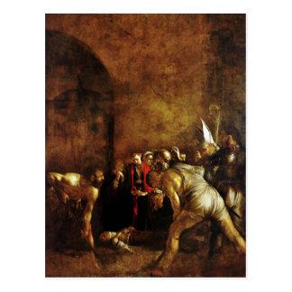 Begrafenis van Heilige Lucy door Caravaggio (1608) Briefkaart