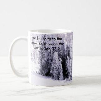 Behandelde sneeuw koffiemok
