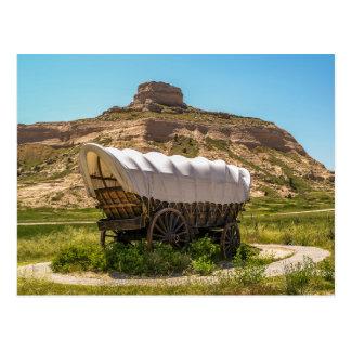 Behandelde Wagen bij het Nationale Monument van Briefkaart