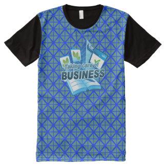 Behandelend Bedrijfsblauw Al Gedrukte T-shirt