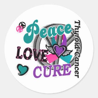 Behandeling 2 van de Liefde van de vrede Kanker Ronde Sticker