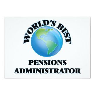 Beheerder van de Pensioenen van de wereld de Beste 12,7x17,8 Uitnodiging Kaart