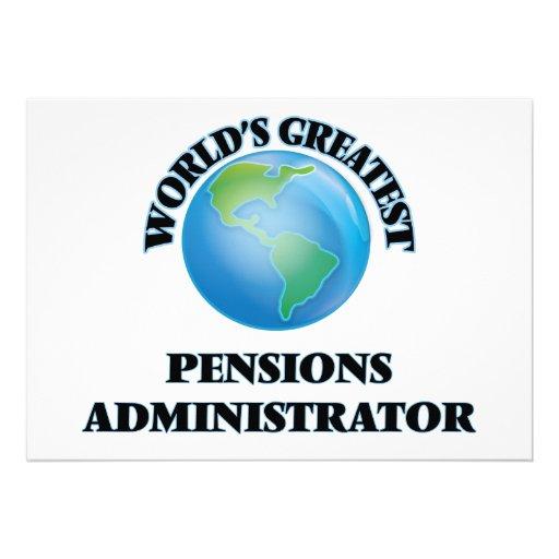 Beheerder van de Pensioenen van de wereld de Persoonlijke Aankondiging