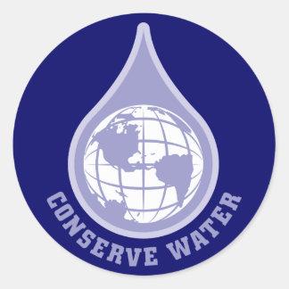 Behoud Water Ronde Sticker