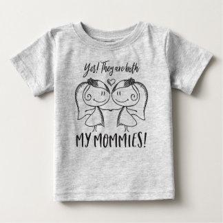 Beide Mama's Baby T Shirts